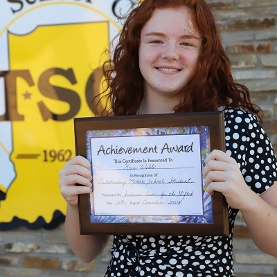 Southwestern student receives Distinguished Middle School Student Award