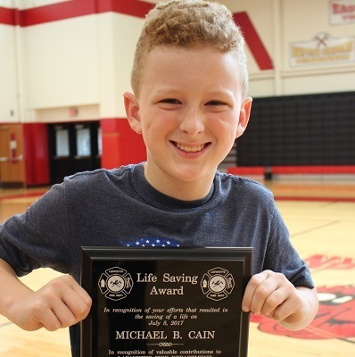 Sixth-grade student recognized for 'life saving' efforts